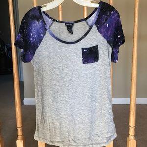 Gray galaxy tee shirt